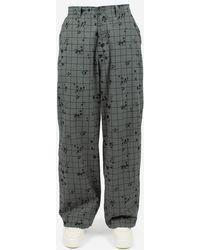 Undercover Pantaloni A Quadri - Grey
