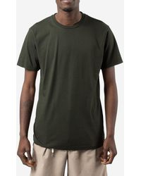 COLORFUL STANDARD T-shirt in cotone - Verde