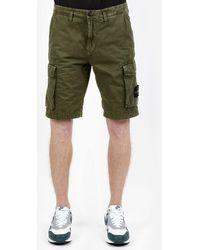 Stone Island Shorts bermuda cargo - Verde