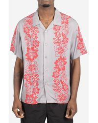 Stussy Camicia Hawaiian Pattern - Grigio