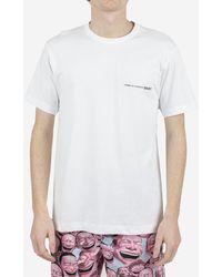 Comme des Garçons T-shirt In Jersey Di Cotone - White