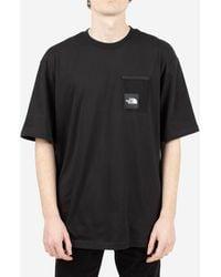 The North Face - T-shirt Black Box Cut - Lyst