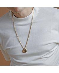 Northskull Atticus Skull Seal Pendant Gold - Metallic