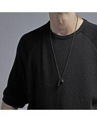Northskull Atticus Skull Tag Necklace - Black