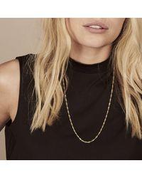 Rachel Jackson Mid-length Sparkle Twist Necklace Gold - Metallic