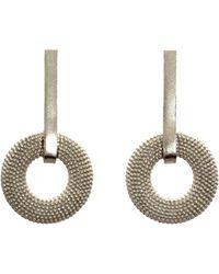 Rosie Kent Weol Sterling Silver Drop Earrings - Multicolor