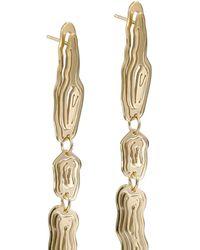 KAY KONECNA Saliana Long Drop Earrings Gold - Metallic