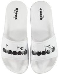 Diadora Serifo 90 Sliders - White