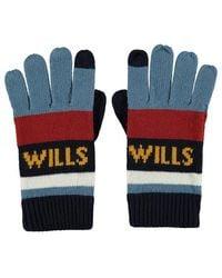Jack Wills Skendle Colour Block Gloves - Blue