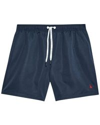Jack Wills Blakeshall Mid-length Plain Swim Short - Blue