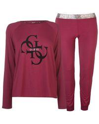 Guess Logo Lounge Set Ladies - Pink