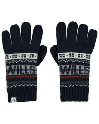Jack Wills Hempton Fairisle Gloves - Blue
