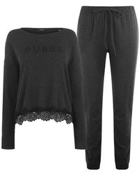 Guess Lace Lounge Pyjama Set - Black