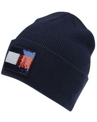 One Size Tommy Navy Blue Manufacturer Size: OS Tommy Hilfiger Womens New Odine Beanie Giftpack Hat and Glove Set