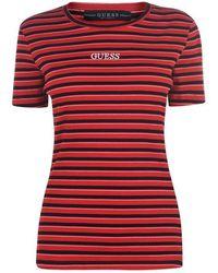 Guess - Stripe T Shirt - Lyst