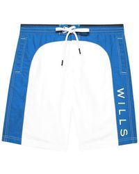 Jack Wills Felton Side Panel Board Short - White