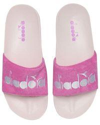 Diadora Serifos 90s Sponge Pool Sliders - Pink