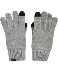 Jack Wills Elwyn Rib Gloves - Grey - Gray