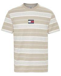Tommy Hilfiger - Pure Cotton Stripe Logo T-shirt - Lyst