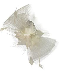 Suzanne Bettley Crinkle Bow Fascinator - White