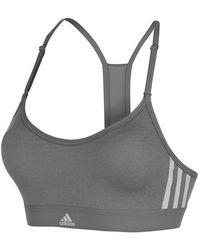 adidas Woven 3 Stripe Sports Bra Ladies - Grey - Gray