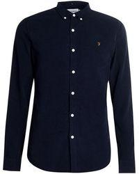 Farah - Fontella Cord Shirt - Blue - Lyst