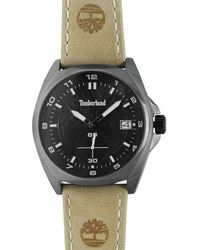 Timberland Hutchington Leather Strap Watch - Multicolour