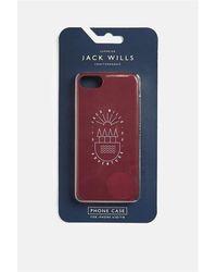 Jack Wills Brampton Heart Iphone 6/6s/7/8 Case - Damson Graphic - Blue