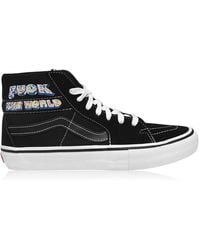 Supreme Project Blitz Vans Sk8 Canvas Trainers - Black