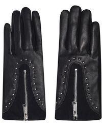 Firetrap Leather Glv Ld94 - Black