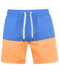 Jack Wills Letham Block Print Swim Shorts - Blue