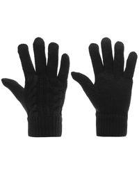 Firetrap Cable Knit Gloves Ladies - Black