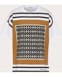 Valentino Valentino ヴァレンティノ フーラード アーカイブプリント コットン Tシャツ - マルチカラー