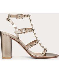 Valentino Garavani Valentino Garavani Rockstud Sandals - Metallic