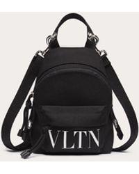 Valentino Garavani Valentino Garavani Mini-rucksack Vltn Aus Nylon - Schwarz