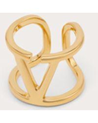 Valentino Garavani Ring Vlogo Signature Aus Metall - Mettallic