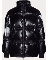 Valentino ダウンジャケット マクロvltnプリント - ブラック