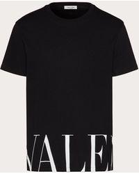 Valentino Valentino Valentino Print T-shirt - Black