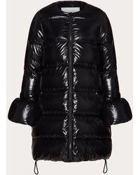 Valentino Duvet Couture Padded Jacket - Black
