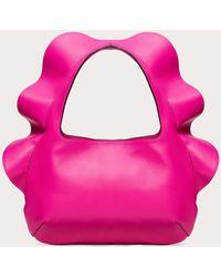 Valentino Garavani Petit Sac Hobo Atelier Bag 04 Rouches Edition - Rose