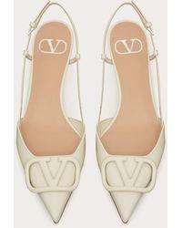 Valentino Garavani - Valentino garavani zapatos de salón destalonados vlogo signature de charol con tacón de 40 mm - Lyst