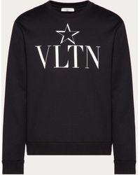Valentino Vltnstar Crew Neck Sweatshirt - Black