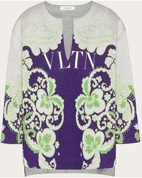 Valentino Vltn Printed Jersey Sweatshirt - Multicolour
