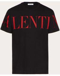 Valentino ブラック ロゴ T シャツ