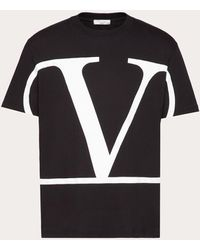 Valentino Vロゴ Tシャツ - ブラック