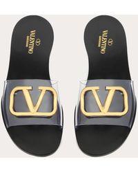 Valentino Valentino Garavani sandalias de pala con accesorio vlogo 5 mm - Negro