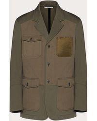 Valentino - ミックスマテリアル シングルブレストジャケット - Lyst