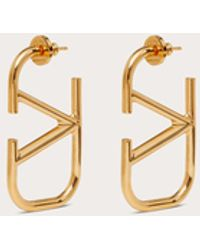 Valentino Garavani Valentino Garavani Vlogo Signature Metal Earrings - Metallic