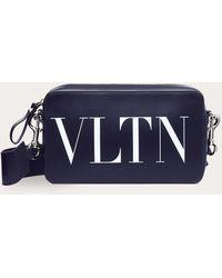 Valentino Garavani Crossbody Bag Vltn Aus Leder - Blau