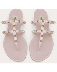Valentino Garavani Rockstud Flat Rubber Sandal - Multicolor